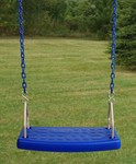 Molded Flat Swing Seat with Plastisol Chain