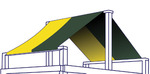 Two color structure roof illustration
