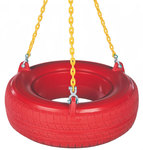 Plastic Tire Swing with PC Chain