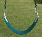 Commercial Belt Swing Seat with Plastisol Chain