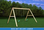 Free Standing Swing Beam with Swings